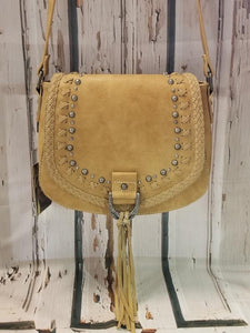 Montana West Western Hobo Bag-Tan