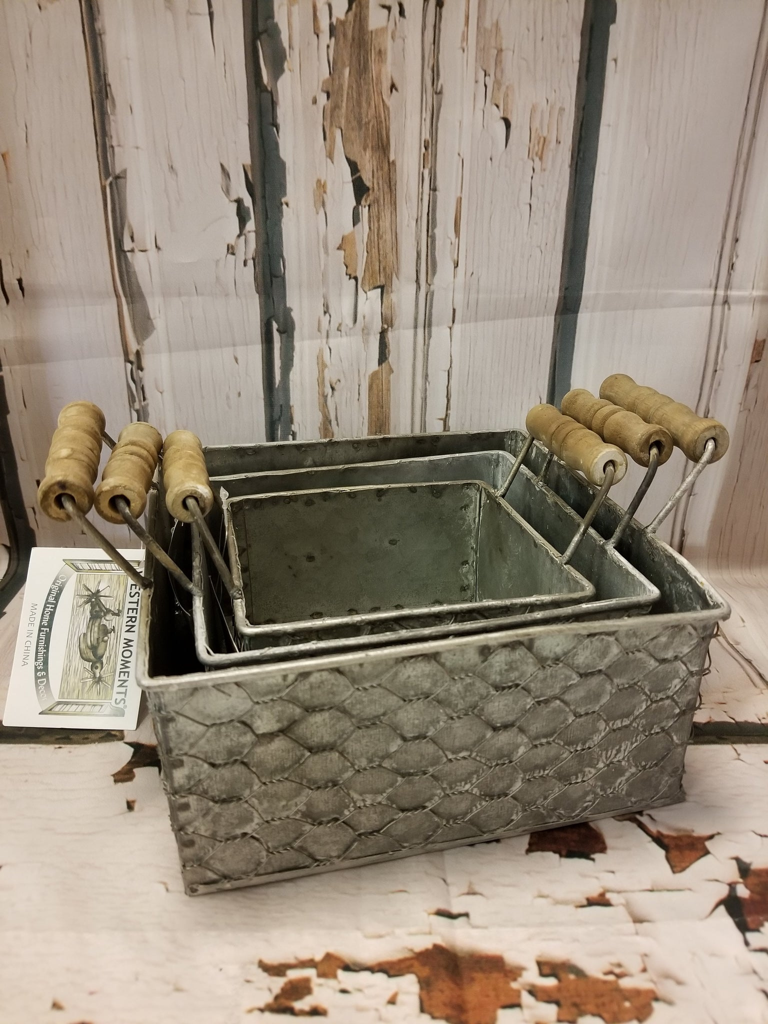 3 Piece Metal Basket Nesting Set