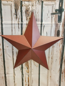 Metal Red Barn Star