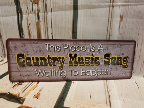 Country Music Tin Sign