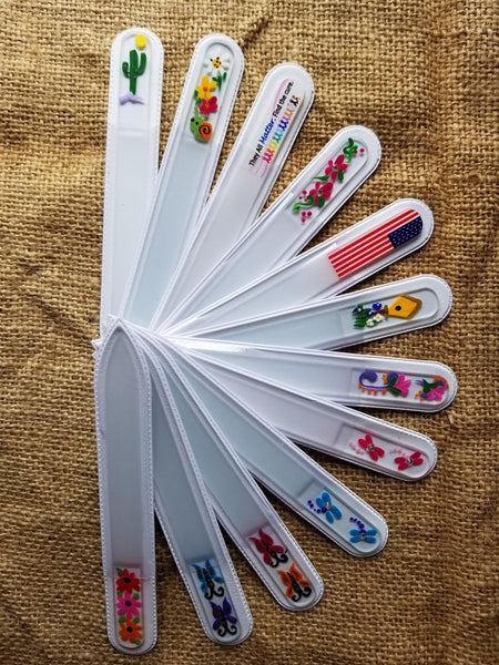 Hand Painted Glass Nail File-Medium