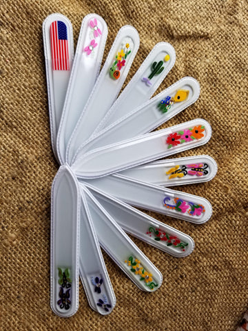 Hand Painted Glass Nail File-Small