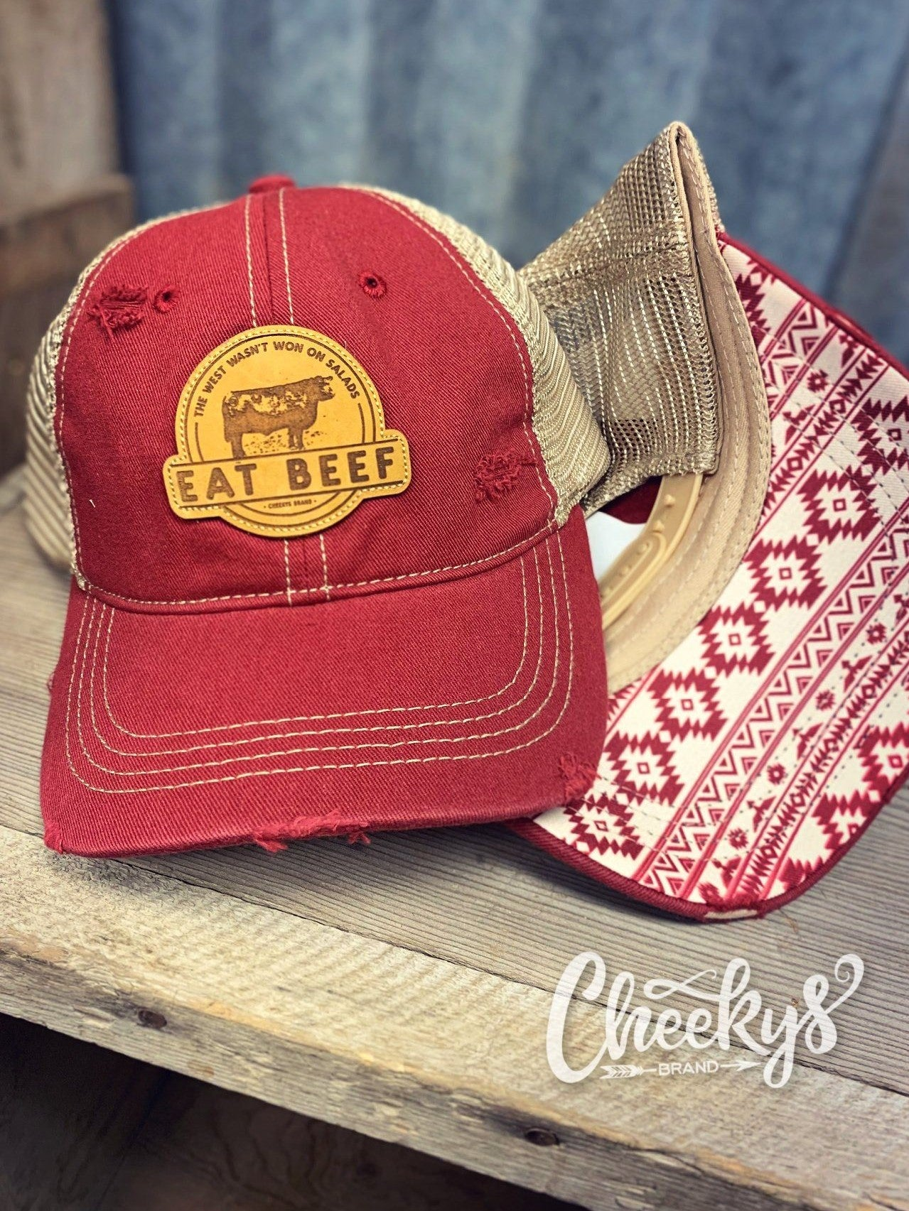Eat Beef Cap - Brick Red