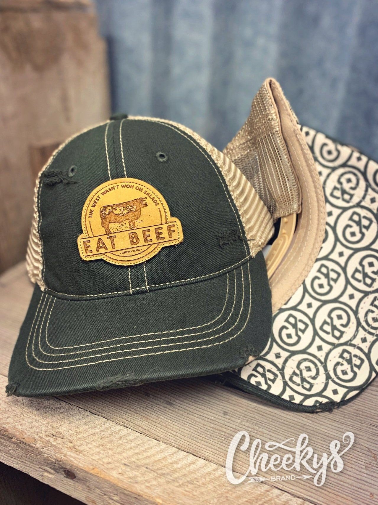 Eat Beef Cap - Military Green
