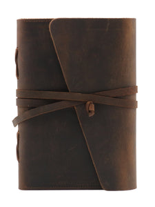 "Genuine Leather Journal Notebook  6"" x 7.25"" - Coffee"
