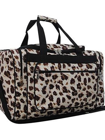 Cheetah Duffel Bag 20""