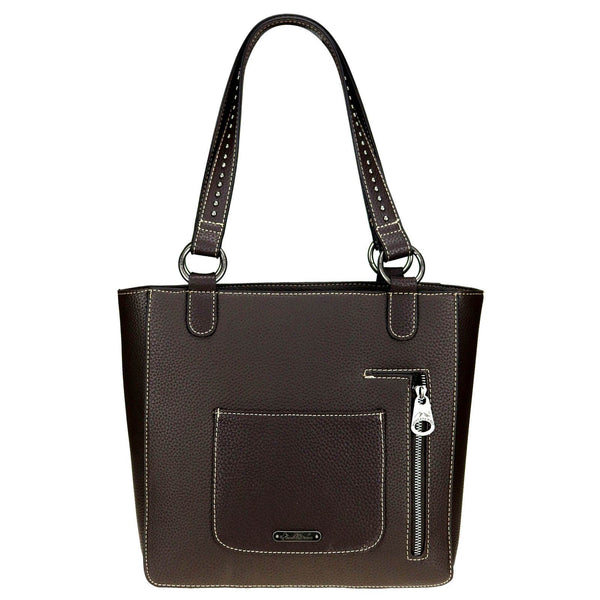 Western Aztec Concealed Carry Tote - Coffee Handbags Montana West