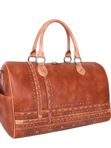 Arra's Studded Duffel Bag - Brown
