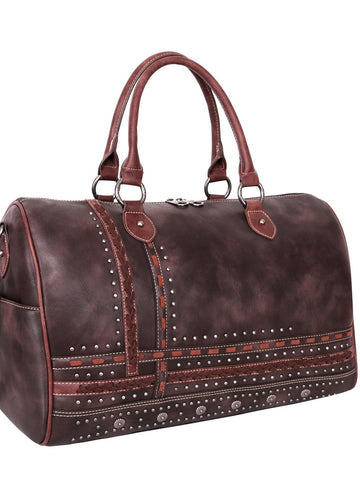 Arra's Studded Duffel Bag - Coffee