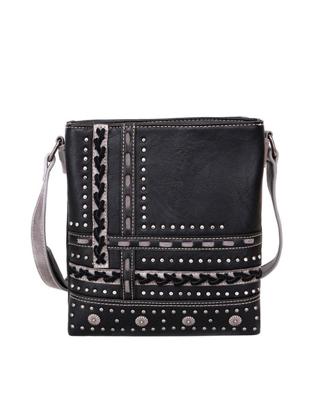 Cecily's Studded Crossbody Bag - Black