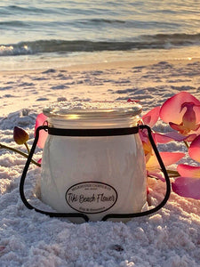 Tiki Beach Flower Butter Jar Candle 16 oz Candles & Melts Milkhouse Candles