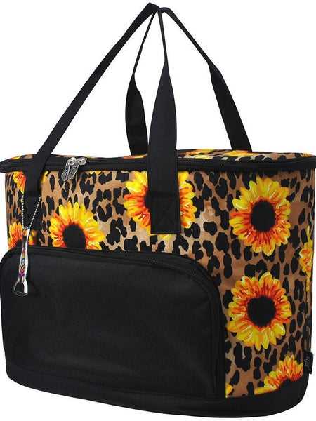 Leopard Sunflower Cooler Bag