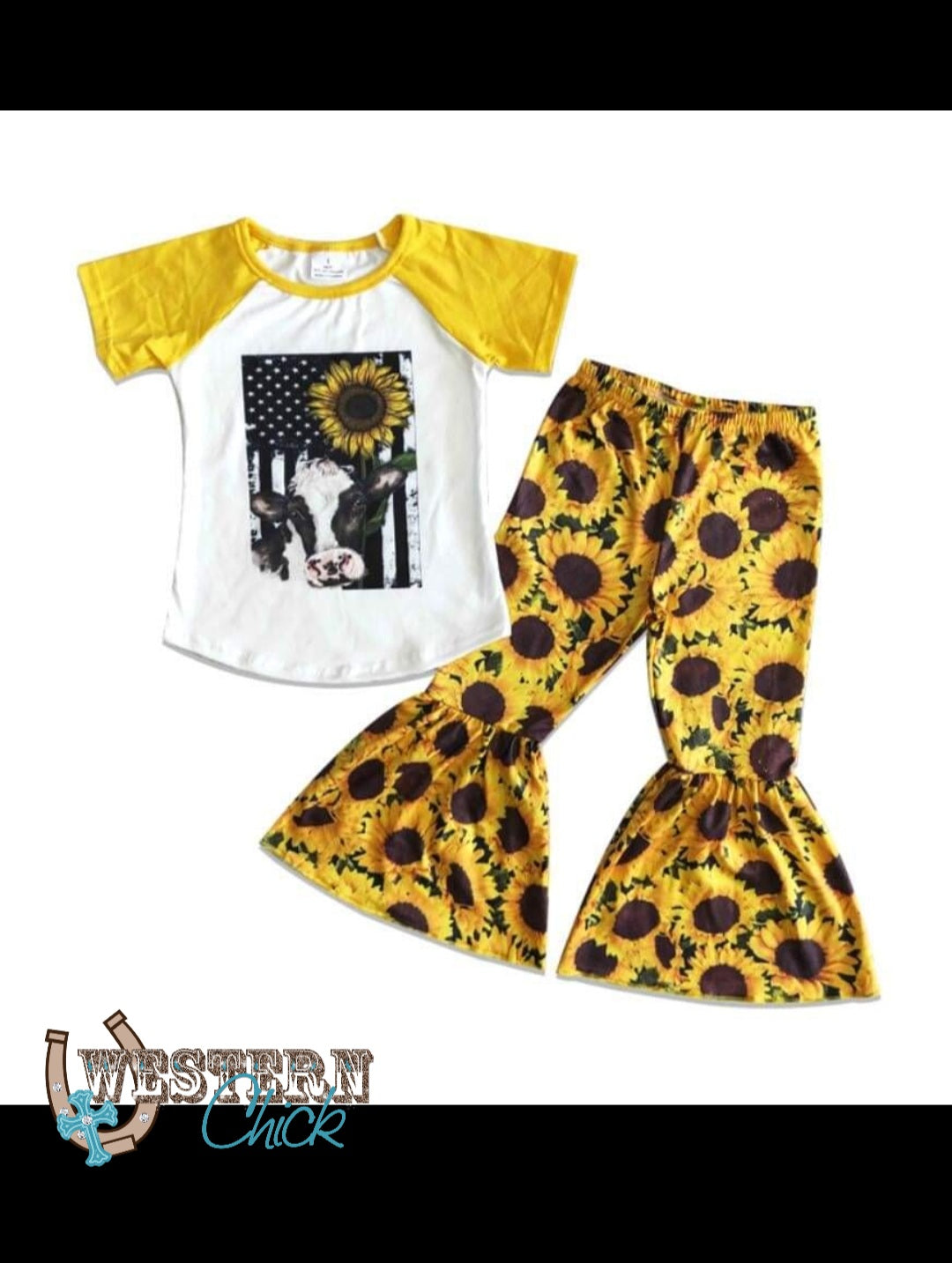 Sunflowers Steer Flag Outfit