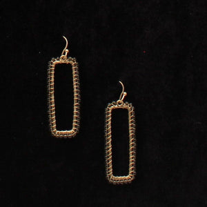 Gold Tone Gray Bead Earrings Jewelry M&F Western Products
