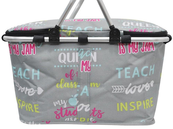 Inspiring Teacher Insulated Market Basket Bag Mommy Wholesale