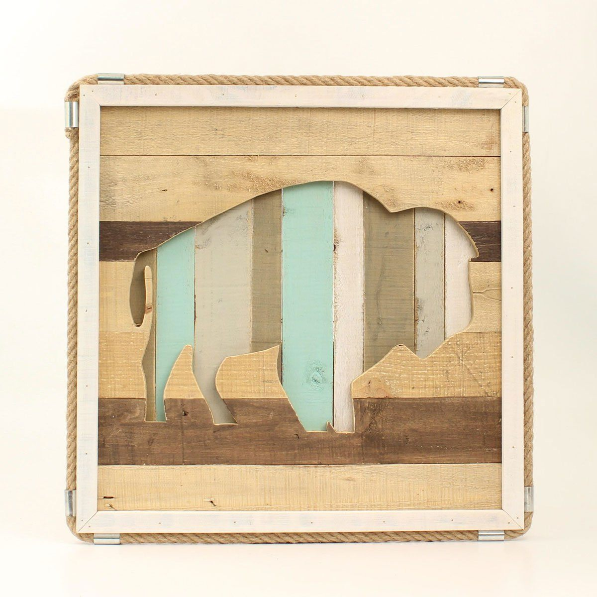 Distressed Wooden Buffalo Wall Decor Gift M&F Western Products