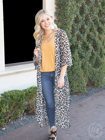 All The Feelings Leopard Duster