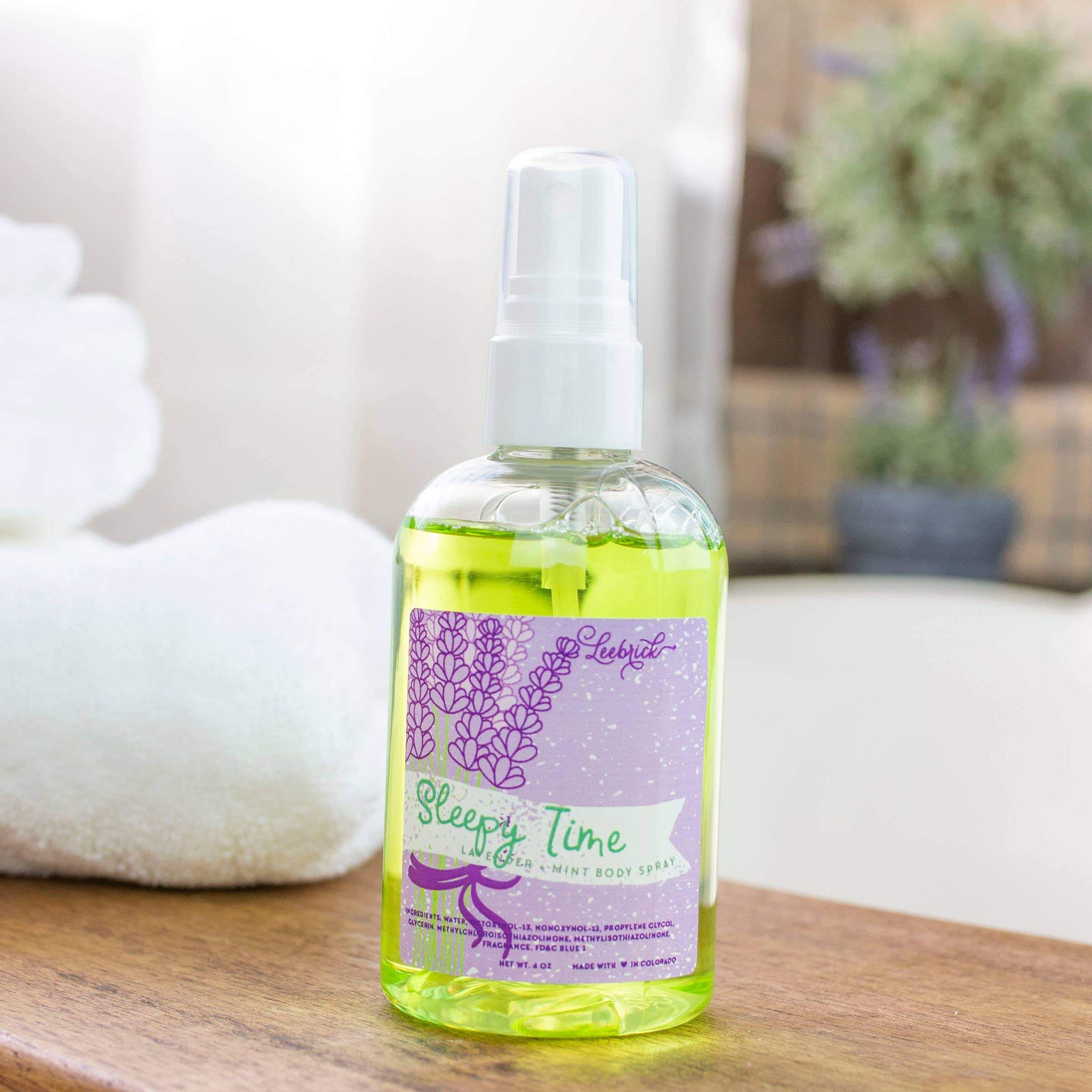 Sleepy Time (Lavender + Mint) Body Spray Spa Products Leebrick