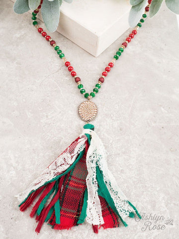 Tis The Season Beaded Tassel Necklace Jewelry Southern Grace