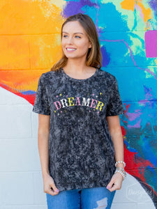 Dreamer Acid Washed Tee