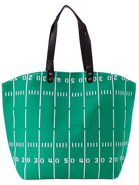 Green Football Tote