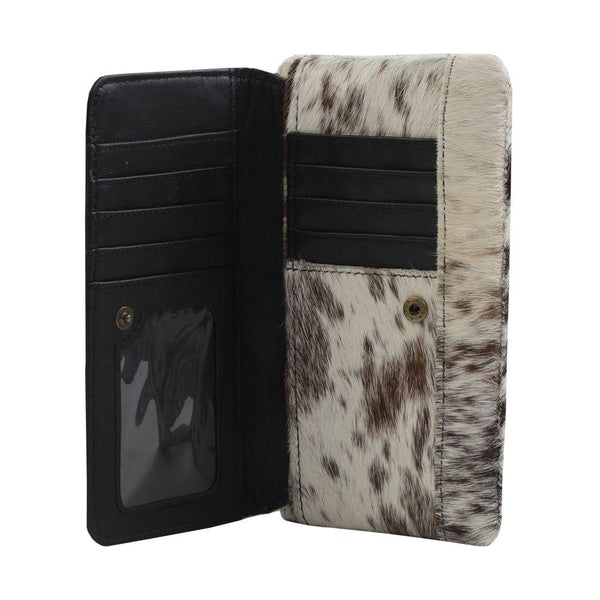 Cookies & Cream Leather And Hairon Wallet Wallet Myra