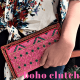 Boho Banjara Clutch Wallet Bags IndiBlu Boutique