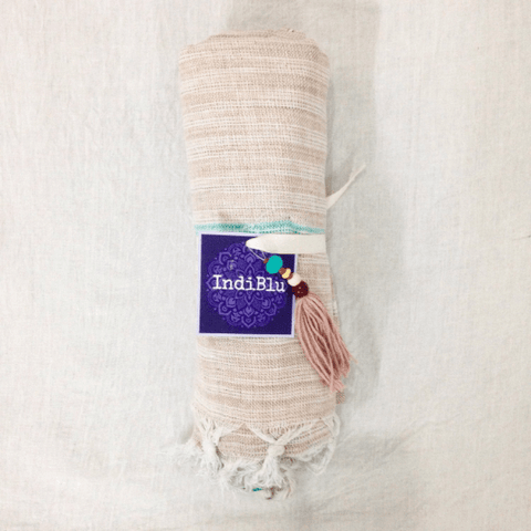 Cotton Khadi Towels Home Decor IndiBlu Boutique