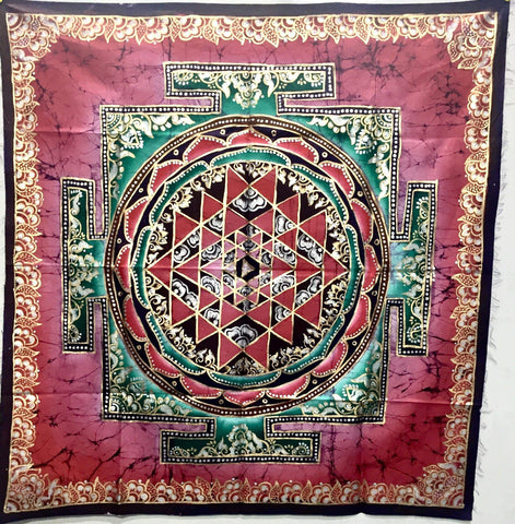 Hand Painted Batik Tapestry - IndiBlu Boutique
