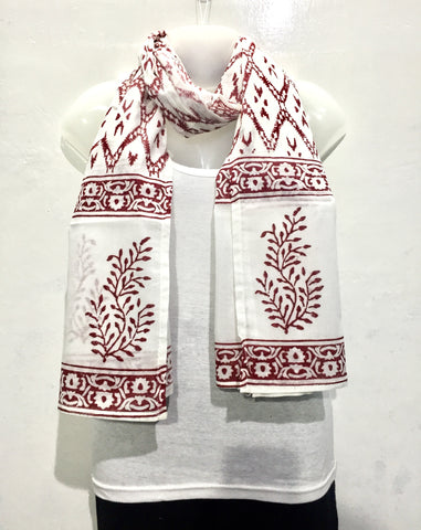 Cotton Block Print Scarf - IndiBlu Boutique