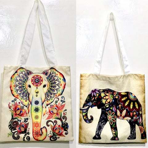 India Graphic Tote Bags Bags IndiBlu Boutique
