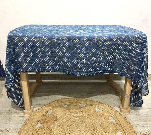 Indian Block Print Table Cloth Home Decor IndiBlu Boutique