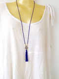 Mala Necklace with Indian Coin - IndiBlu Boutique