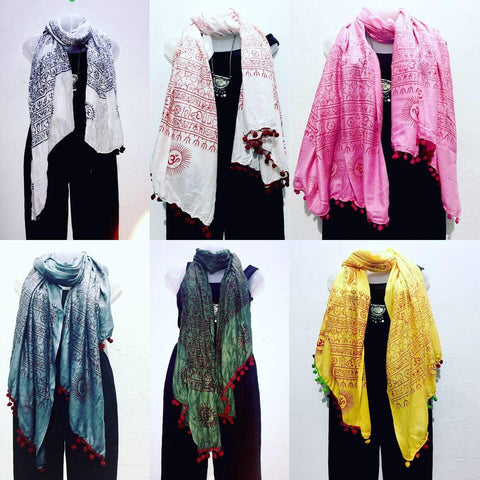 OM Mantra Scarfs/Wraps - IndiBlu Boutique