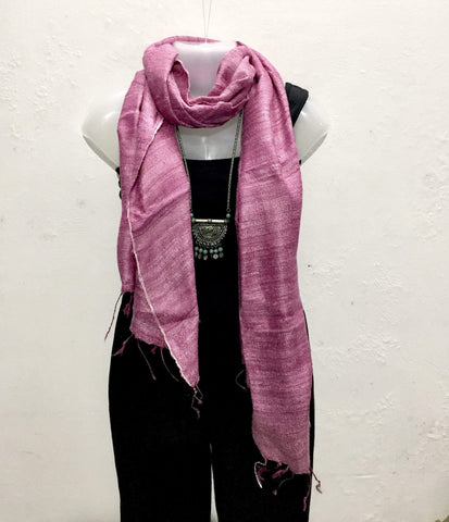 Raw Silk Scarves - IndiBlu Boutique