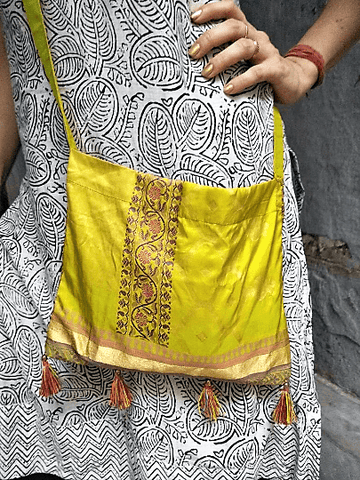 Silk Sari Purse - IndiBlu Boutique