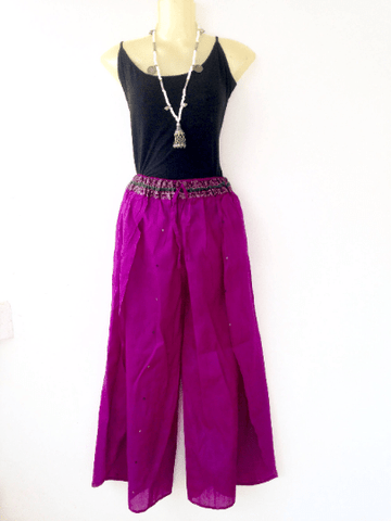 Split Leg Pants - IndiBlu Boutique