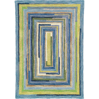 Company C Concentric Squares Rug
