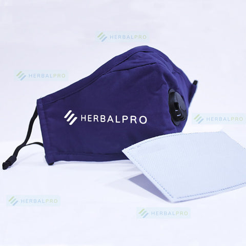 Herbal Pro's adult Face-mask with Respirator