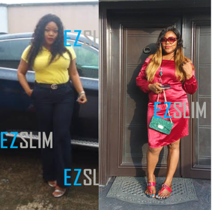 Image of EZ Slim female customer showing her weight loss
