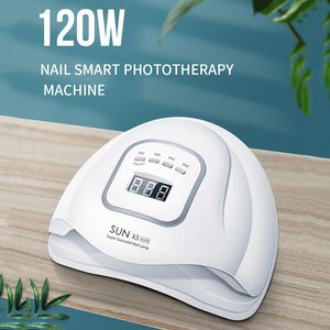 Auto Sensing UV Nail Dryer Lamp With Timing Setting 120W Fast Curing