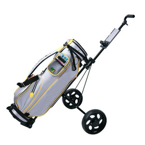 Foldable Wheeled Golf Walking Bag Push Cart