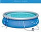 Updated Summer 12 ft x 36 in Easy Set Pool Set With Filter Pump