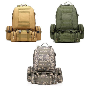 50L 600D Tactical Hiking Backpack Bag Army