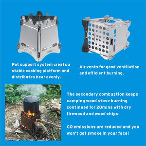 Portable Camping Wood Stove