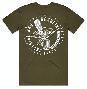 Caf & Gas - Gearstick Tee