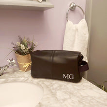 Load image into Gallery viewer, NuHide® Faux Leather Wash Bag - Initials