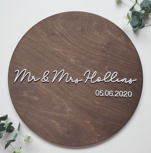 Anglican Oak Rustic Wedding Guest Book Sign