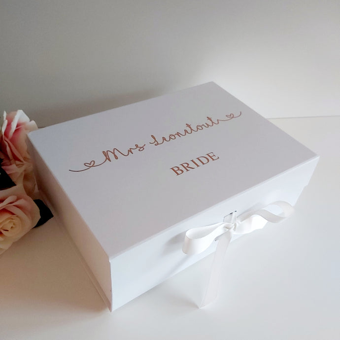 Bride Ribbon Gift Box