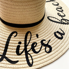Load image into Gallery viewer, Life's a Beach Sun Hat